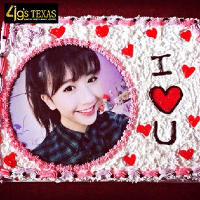 4G's Texas - Bánh Kem In Hình Theo Yêu Cầu (20cmx7cm)