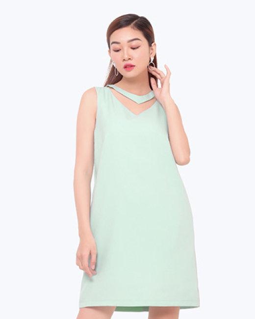 Đầm Cổ Tim Cúp Suông Sang Trọng TT Gofa