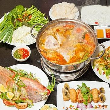 Ah!Ngon Quán - Combo Lẩu Cá Điêu Hồng Chua Cay + Chả Giò Bắc Thảo...