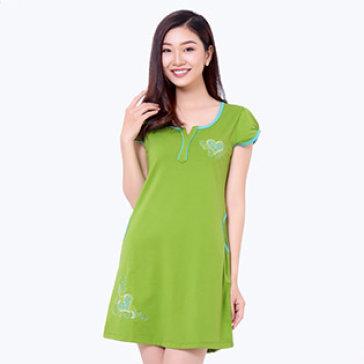 Đầm Mặc Nhà Cổ Chữ Y Trẻ Trung