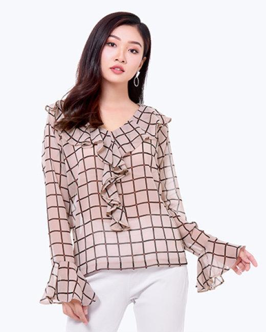 Áo Kiểu Cổ Bèo Tay Loe Style