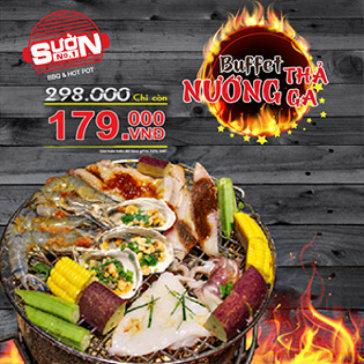 Buffet Tối Không Giới Hạn Bò Mỹ & Hải Sản Nướng Hơn 40 Món - NH Sườn No.1 Thành Thái