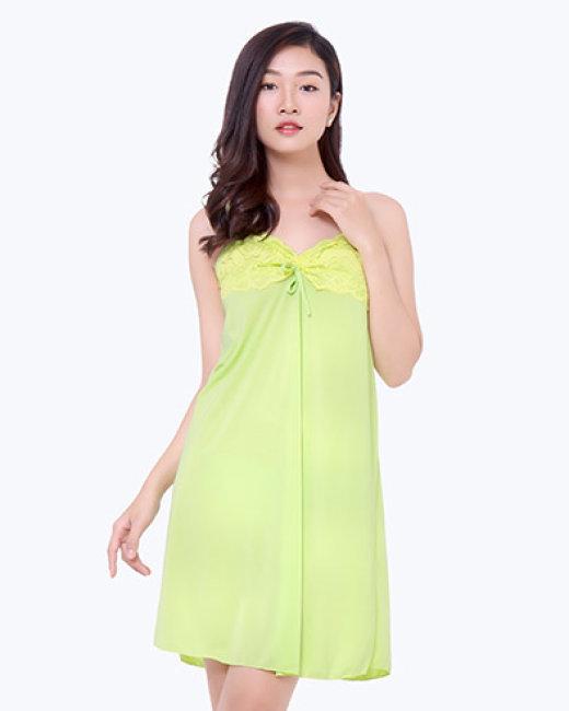Đầm Ngủ 2 Dây Phối Ren Sexy