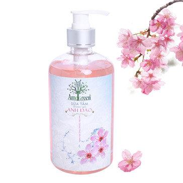 Sữa Tắm Hoa Anh Đào Tinh Dầu Thiên Nhiên Amegreen 540Gr