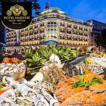 Buffet Quốc Tế Hải Sản Tôm Hùm Tại Khách Sạn 5* Majestic Sài Gòn (Không Phụ Thu Cuối Tuần)