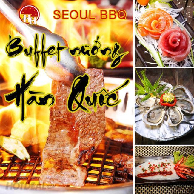 Hot Buffet Nướng Lẩu Hàn Quốc Tại Nhà Hàng Seoul BBQ