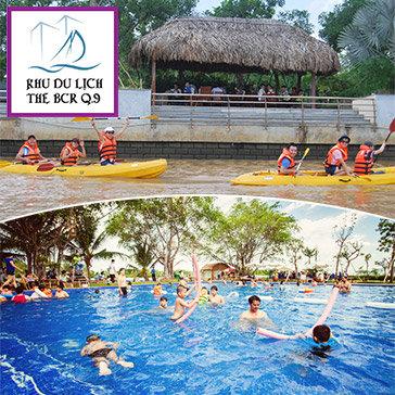 Trọn Gói 5 Trò Chơi Tại Khu Du Lịch BCR: Hồ Bơi + Thuyền Kayak+ Minigolf+ Phóng Lao+ Bóng Lăn