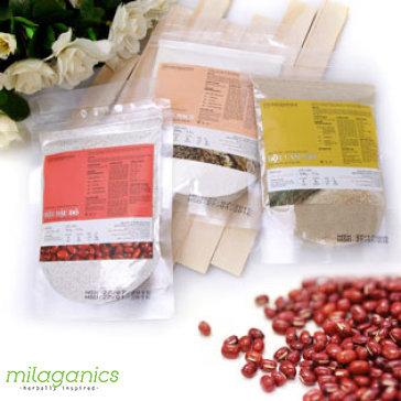 Combo 3 Bịch Yến Mạch + Cám Gạo + Đậu Đỏ Thiên Nhiên Milaganics 100G