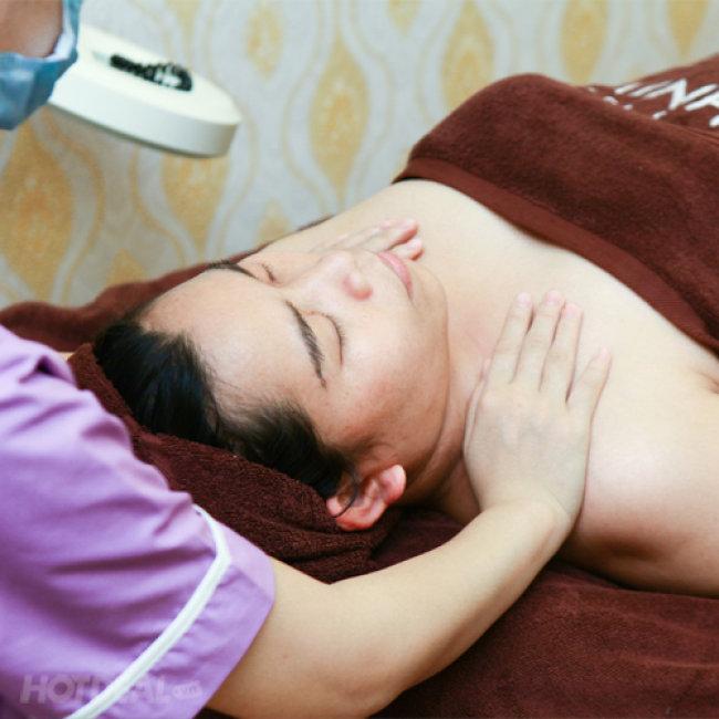Chăm Sóc Da Trắng Hồng Và Massage Cổ Vai Gáy - Đến Minh Tuệ Spa...