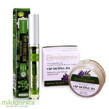 Combo Mascara Dài Mi Olive Và Sáp Olive Dưỡng Da CC Milaganics