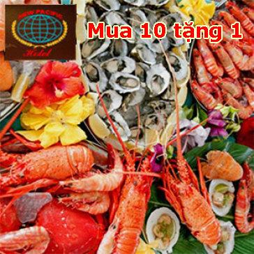 New Pacific-Buffet Lẩu, Nướng, Hải Sản T4 - T5 - T6-FREE Nước, Kem,...