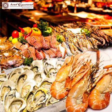 International Buffet 5* Hải Sản Tối Thứ 6, Thứ 7 & CN Tại Khách Sạn Equatorial