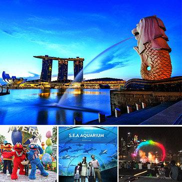 Tour Khám Phá Singapore 3N2Đ - Thủy Cung S.E.A Aquarium Lớn Nhất Thế Giới + Bảo Tàng Hàng Hải + Bữa Ăn BBQ Seoul Garden + Rạp Phim 4D Typhoon Theatre + Tặng 1 Suất Ăn Nhẹ Tại Sân Bay