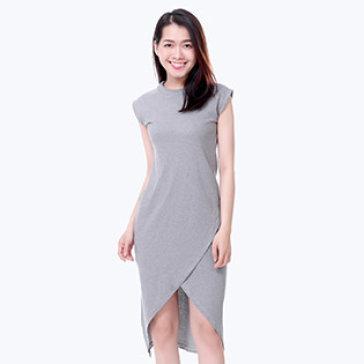 Đầm Thun Vạt Xéo Thời Trang