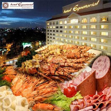 International Buffet 5* Hải Sản, Tôm Hùm Trưa Chủ Nhật Tại Khách Sạn Equatorial Hotel