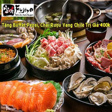 Fujiya Buffet Nhật Bản Tối/Trưa Hơn 100 Món Sashimi, Nướng, Lẩu, Hải Sản & Sushi Tại Vincom Center