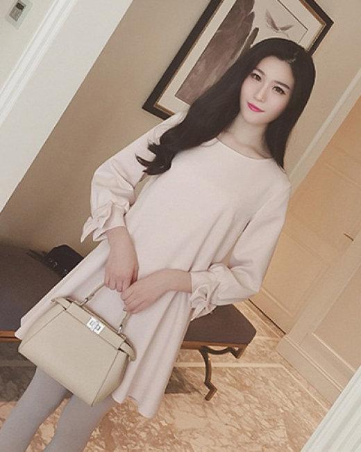 Đầm Suông Tay Nơ Thời Trang