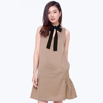 Đầm Đuôi Cá Nơ Cổ