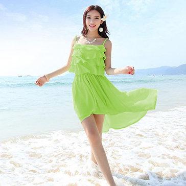 Đầm Maxi Đi Biển Phối Tầng