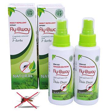 Combo 2 Bình Xịt Xua Đuổi Muỗi Fly@Way