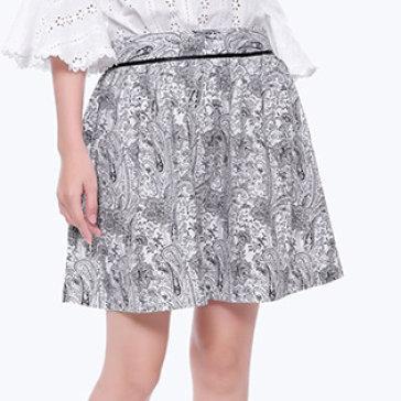 Chân Váy Hoa Viền Lưng-V022-TH Quỳnh Vy