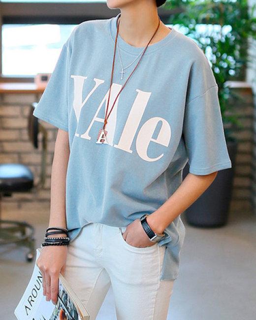 Áo Thun Nữ Xẻ Tà Yale