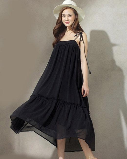 Đầm Maxi 2 Dây Tầng Hana