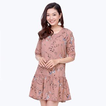 Đầm Đuôi Cá Hoa Nhí