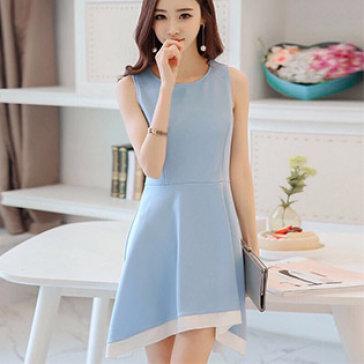 Đầm Mullet Phối Màu Fashion