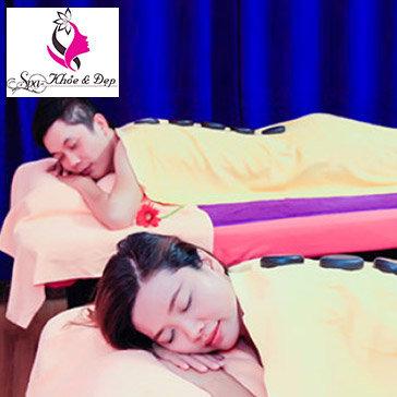 Couple Nam Nữ: Xông Hơi + Massage Body Châu Âu + Đá Nóng Toàn Thân +...