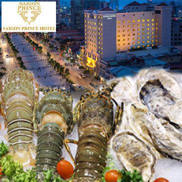 Buffet Tối Hải Sản Tôm Hùm Thứ 4 Đến Thứ 7 Tại Khách Sạn Sài Gòn Prince Hotel 4* - Phố Đi Bộ Nguyễn Huệ