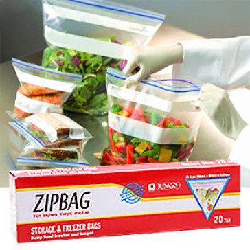 Bộ 3 Hộp Túi Zipbag Bảo Quản Thực Phẩm 28 X 26cm (20 Cái/Túi) Ringo