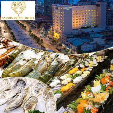 Buffet Quốc Tế Hải Sản Tại Khách Sạn Sài Gòn Prince Hotel 4* - Phố Đi Bộ Nguyễn Huệ