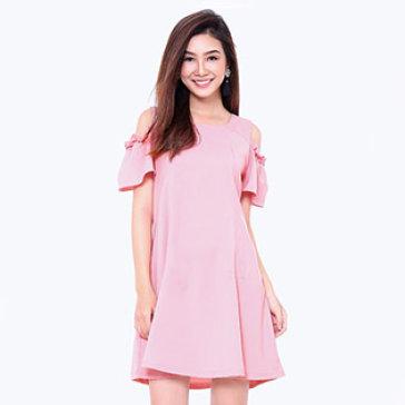 Đầm Oversize Rớt Vai Cách Điệu