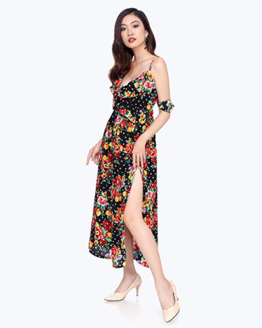 Đầm Maxi Bông Tay Bèo Kalfany