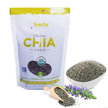 Hạt chia sạch Loveta Organic Nhập khẩu từ Mỹ 454gr