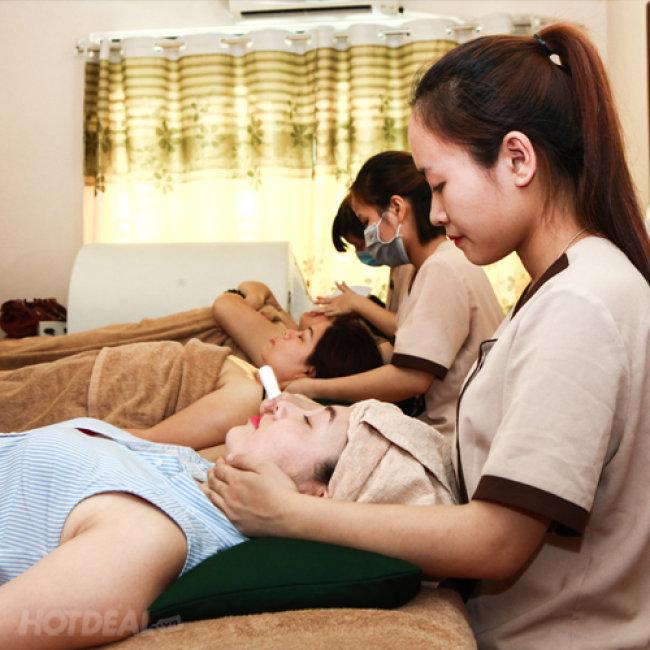 ĐẸP + Chăm Sóc Da Trắng Hồng/ Chăm Sóc Da Mụn Kết Hợp Massage...