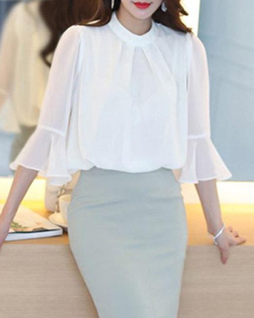 Áo Kiểu Tay Voan Loe Elegant