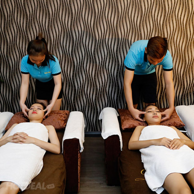 (90') Massage Foot + Massage Body Đá Nóng + Steambath/ Sauna + Ngâm Chân...