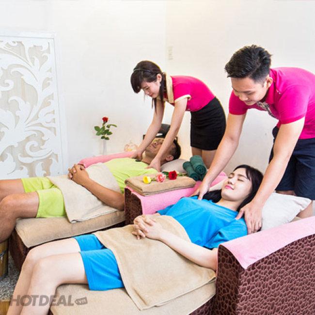 Gói Couple: Massage Body Đá Nóng + Massage Foot + Ngâm Chân + Đắp Mặt...