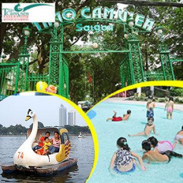 Thảo Cầm Viên - Vé Trọn Gói Cổng, Xem Phim 9D/7D, Trượt Nước, Đạp Thuyền Thiên Nga, Massage Cá Và Câu Cá Trẻ Em