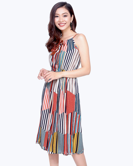 Đầm Maxi Họa Tiết Cá Tính