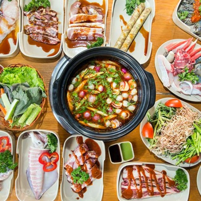 Buffet Trưa & Tối BBQ Hải Sản, Bò Mỹ & Lẩu Hơn 40 Món Không...