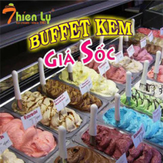 Kem Thiên Lý - Buffet Kem + Bánh Ngọt + Trái Cây Nhiều Vị Hơn, Cực...