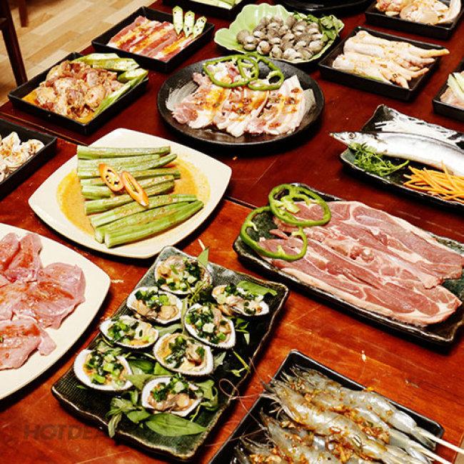 Buffet Trưa BBQ Bò Mỹ Nướng Không Khói – Hải Sản – Lẩu –...