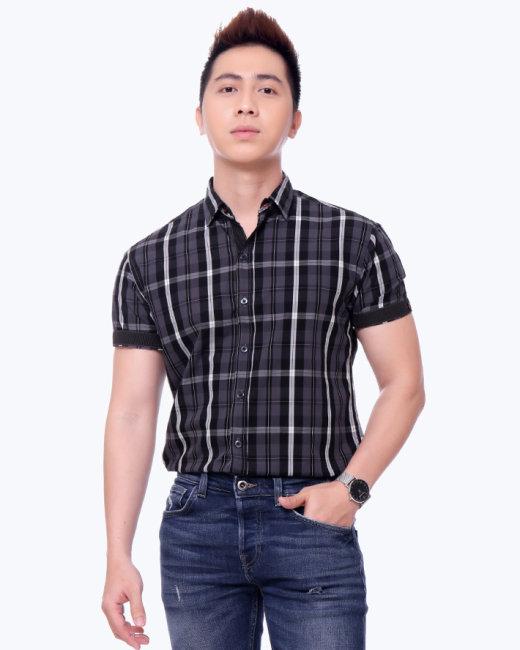 Áo Sơ Mi Nam Tay Ngắn S2314081 TH MK Jeans