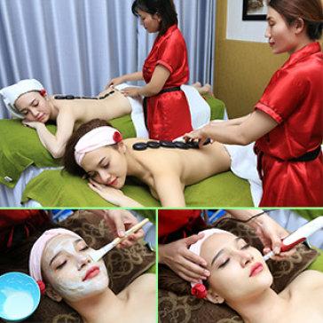 Massage Body + Foot + Đắp Mặt Nạ/ Chăm Sóc Da Mặt + Chạy Vitamin C...