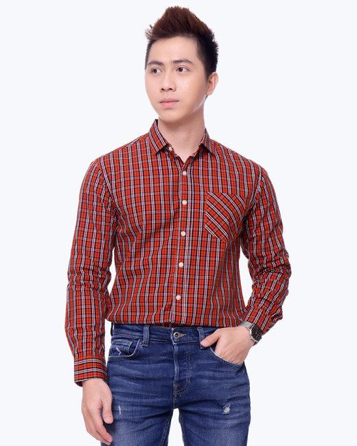 Áo Sơ Mi Nam Tay Dài S2115029- TH MK Jeans