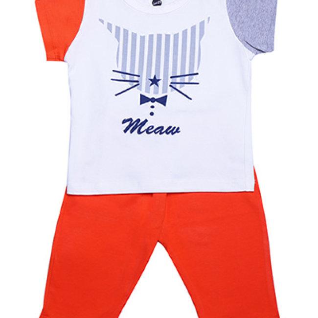 Combo 02 Bộ Đồ Thun Lydo BB Hình Mèo Đáng Yêu Cho Bé