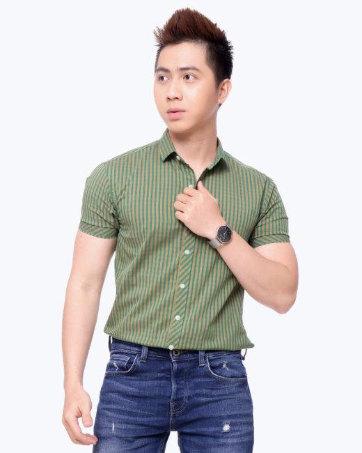 Áo Sơ Mi Nam Tay Ngắn S2315009- TH MK Jeans